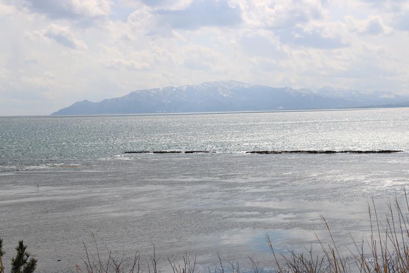 サラキ岬から海を望む