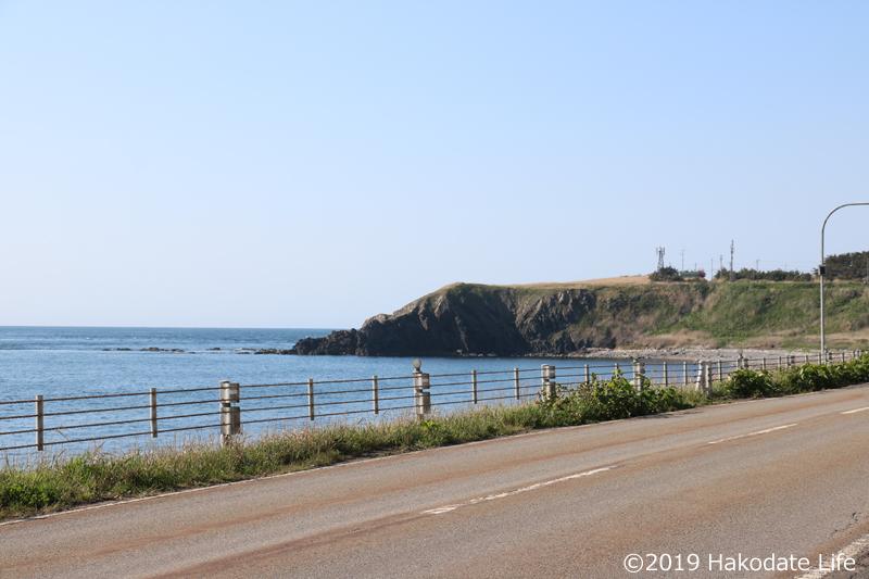 洲根子岬遠景