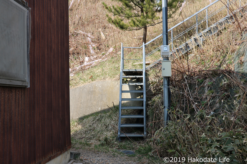 展望台へ上がる階段