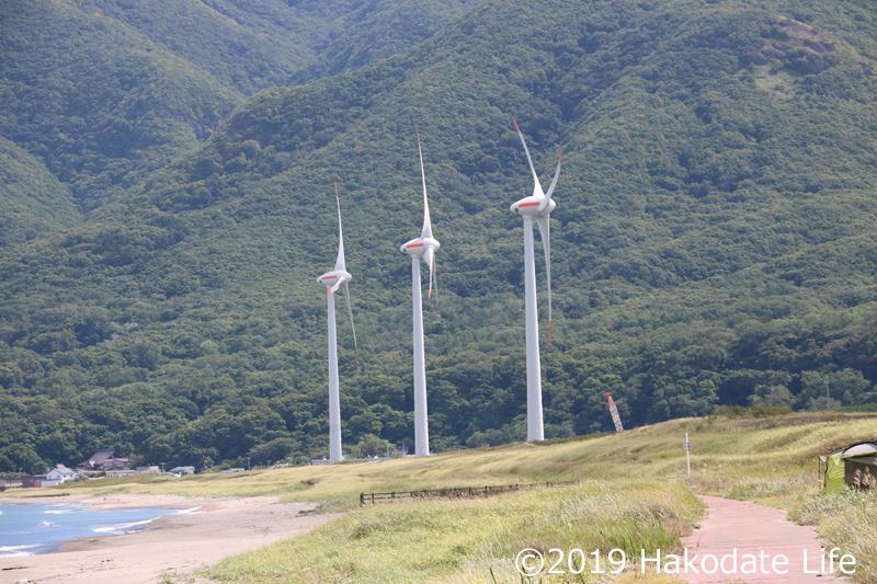 近くには風車が多い