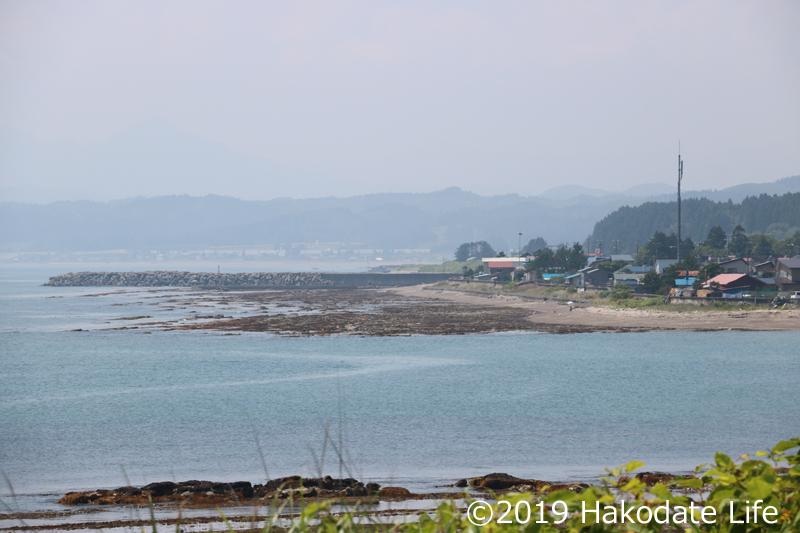 サラキ岬からみた海