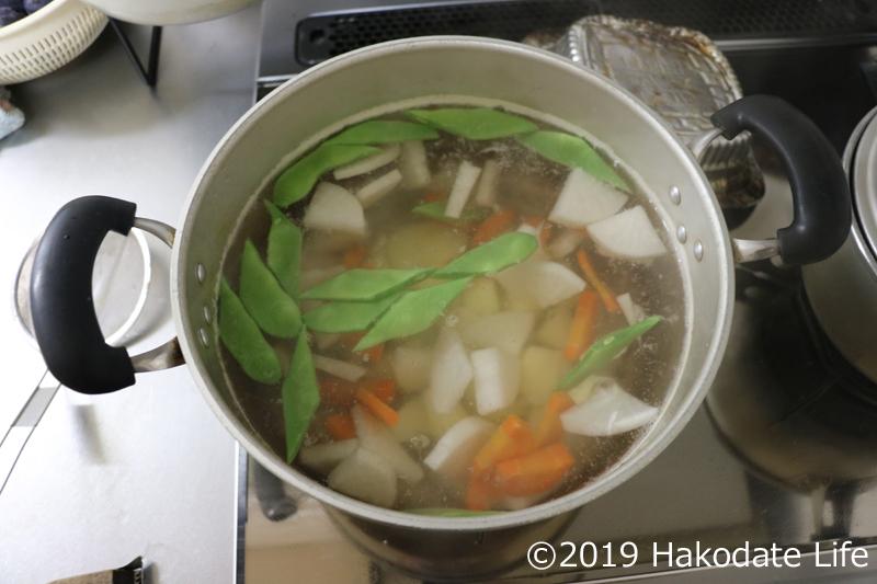 野菜を入れる