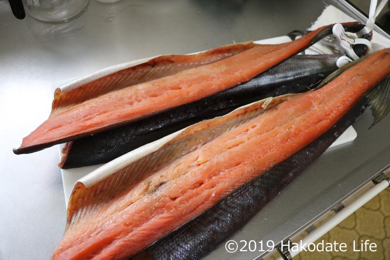 生乾きの鮭