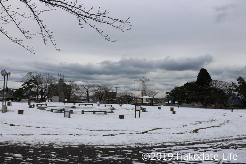 冬の函館公園