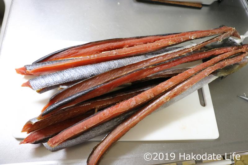 鮭とばの完成