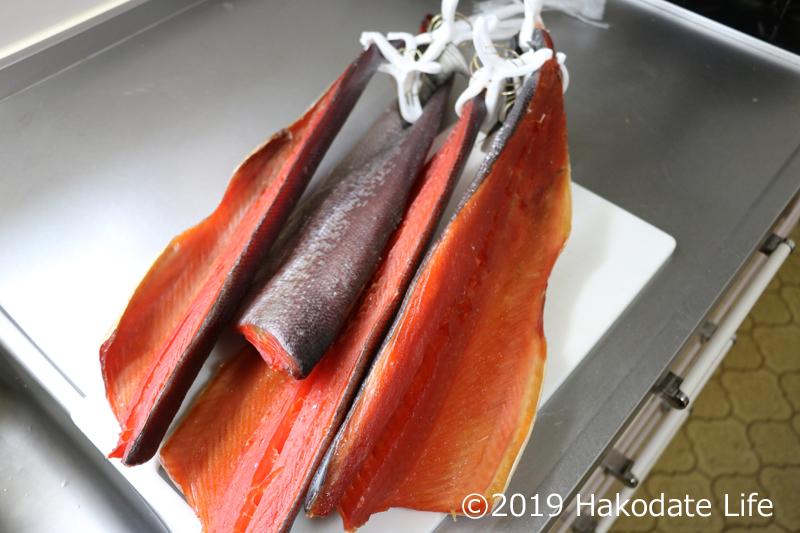 一週間経った紅鮭