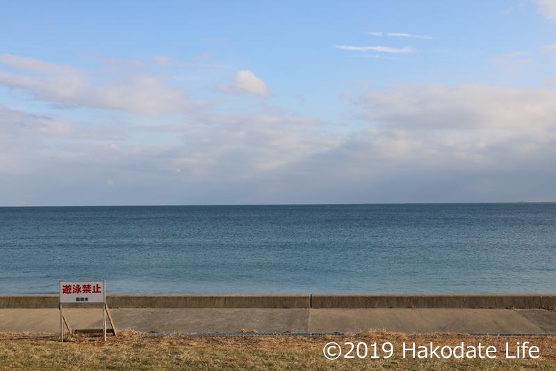 目の前の津軽海峡