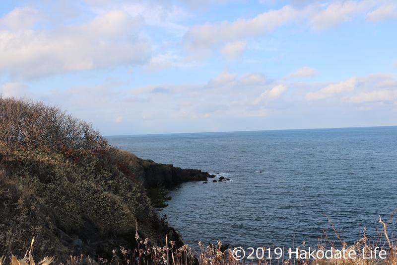 恵山岬から椴法華方面を見る