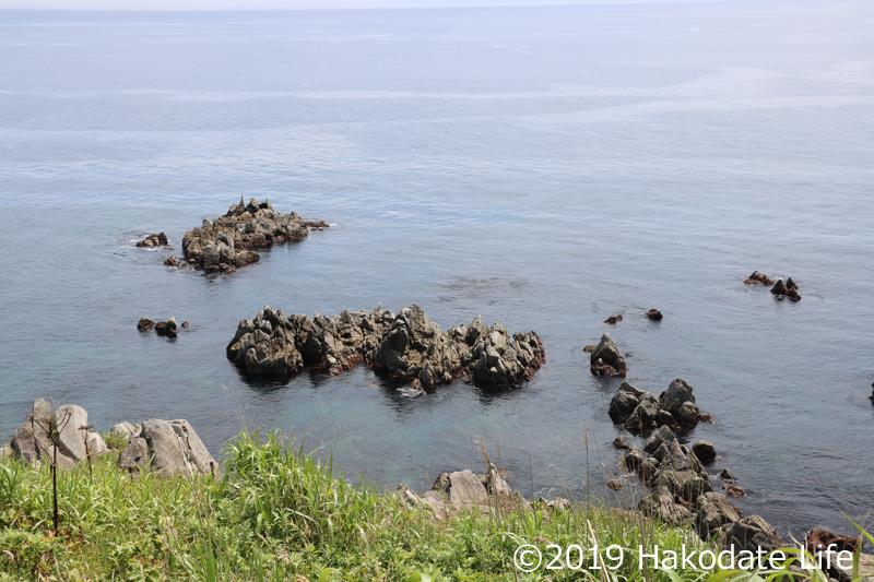 立待岬の先端