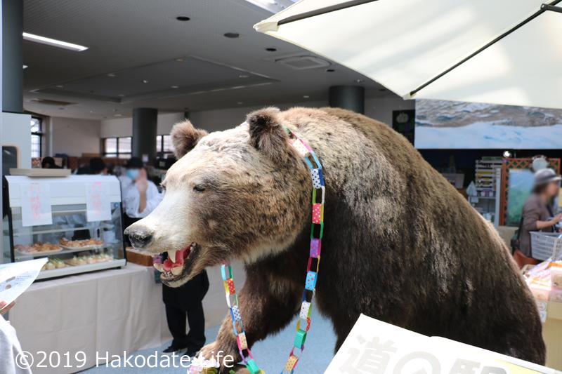 入り口の熊