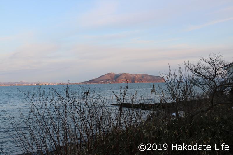 函館山と海