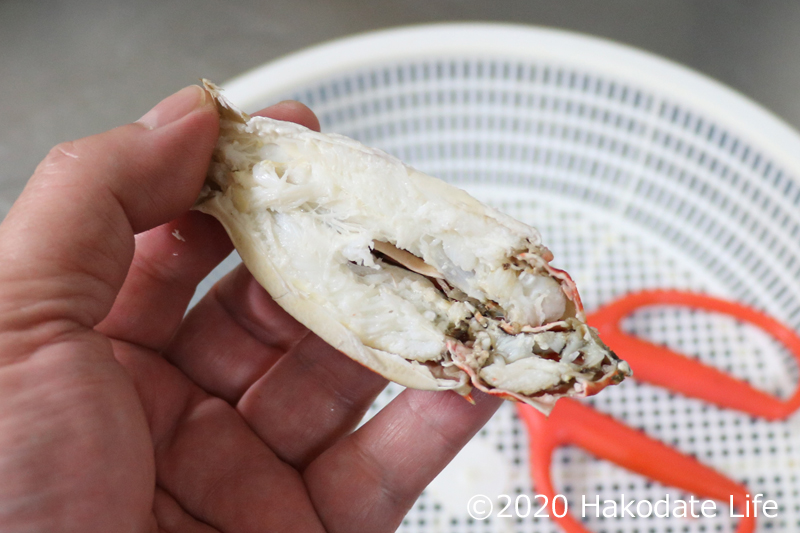 カニ爪の下の部分