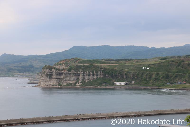館の岬遠景