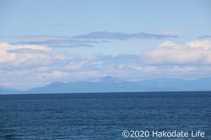 対岸の有珠山
