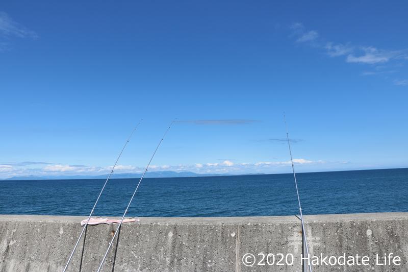 噴火湾での釣り
