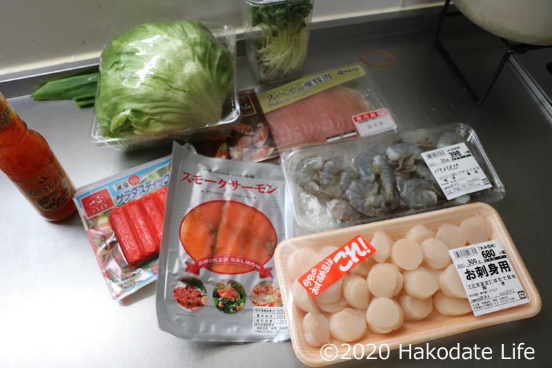 海鮮生春巻きの具材