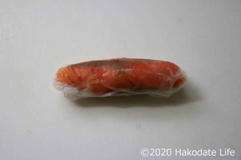 スモークサーモンの生春巻き