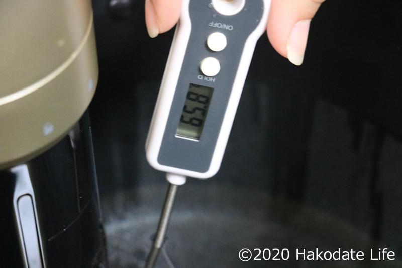 温度計は約65℃