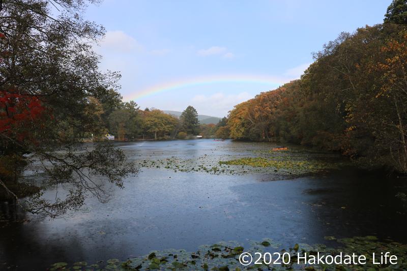 虹と八郎沼公園③