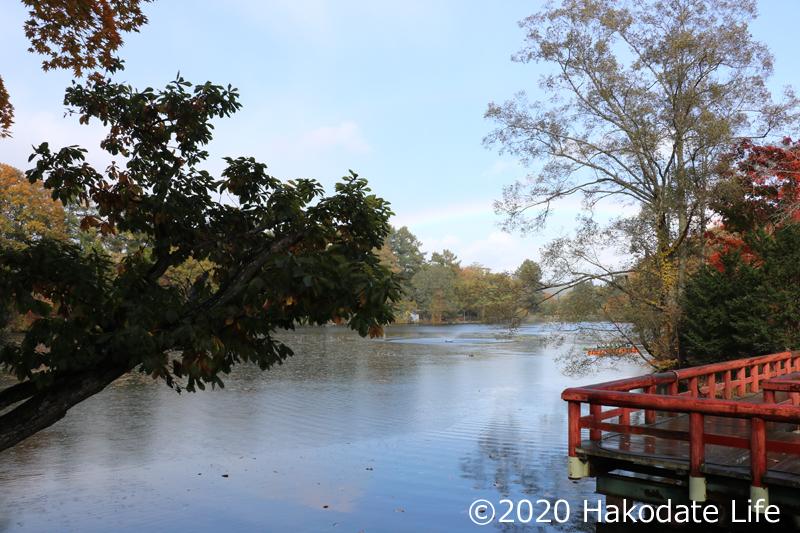 虹と八郎沼公園②