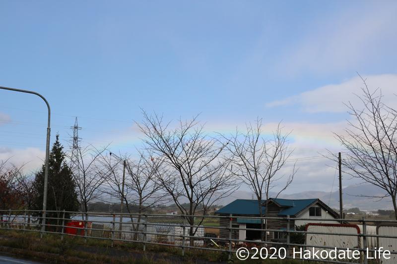 清川陣屋あたりからの虹