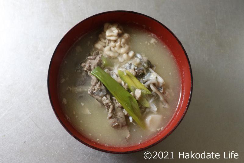 スケソウのアラ汁(じゃっぱ汁)