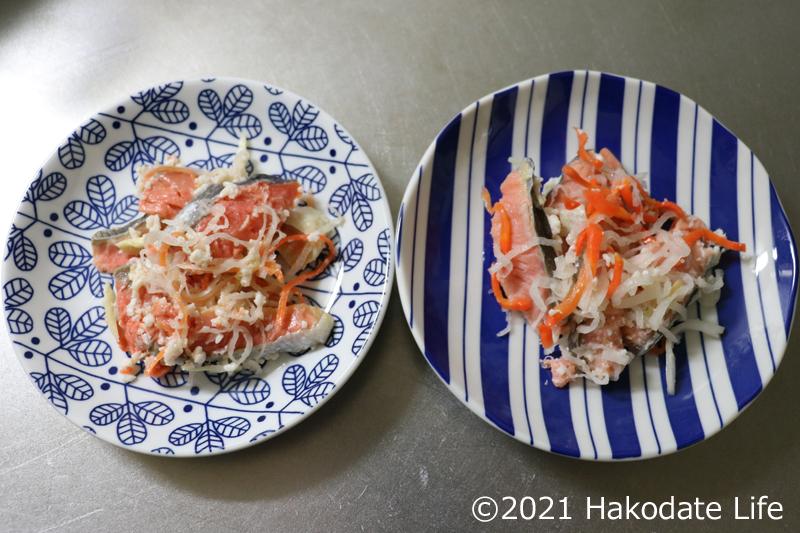 鮭の飯寿司の完成