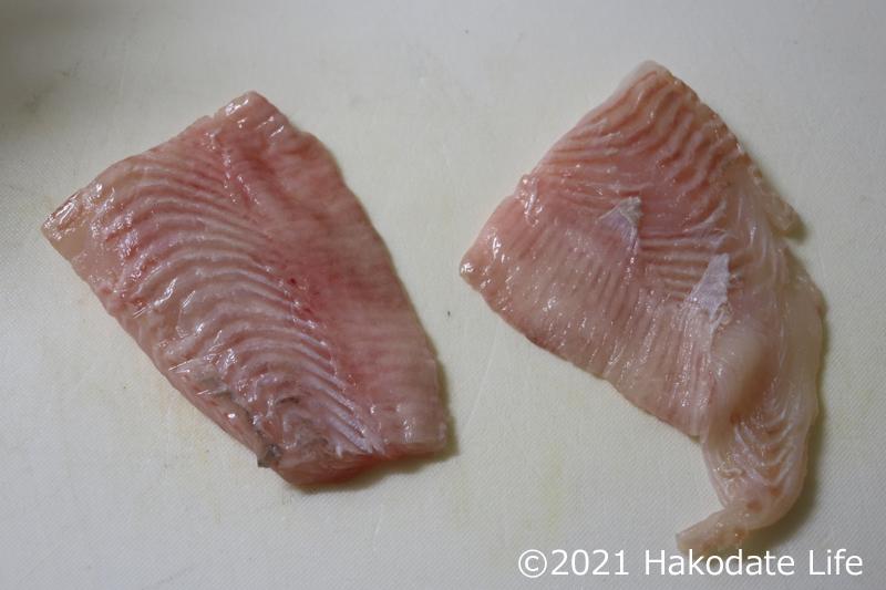 サメガレイの切り身